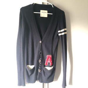 Abercrombie & fitch navy blue academy cardigan